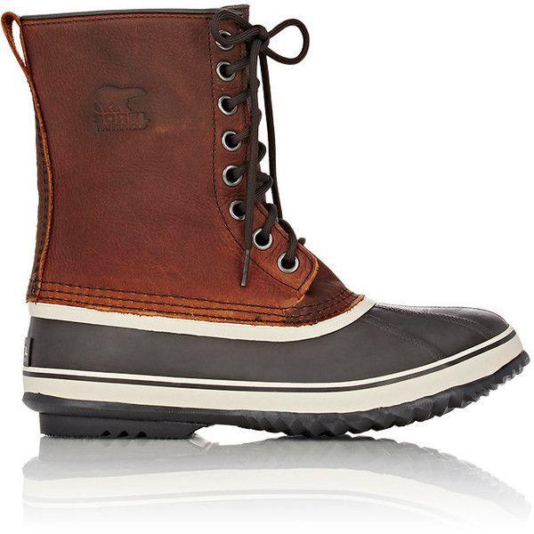 Sorel Men's 1964 Premium™ T Snow Boots (9.780 RUB) ❤ liked on Polyvore featuring men's fashion, men's shoes, men's boots, brown, mens brown boots, mens lace up boots, mens waterproof boots, mens flat shoes and mens waterproof snow boots
