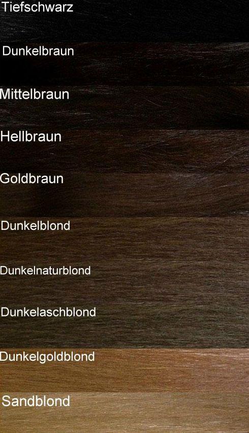 Haare ausgangswert Goldbraun oder Dunkelblond - Farbtabelle0211