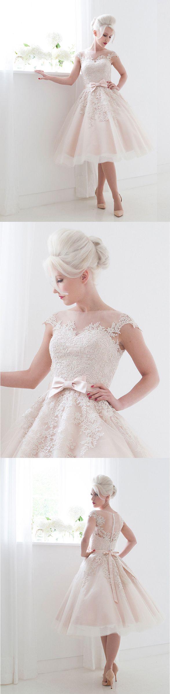 Mooshki Bridal Poppy tea length wedding dresses…