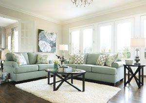 Daystar Seafoam Sofa. I of love this sofa and can find it at American furniture warehouse, it looks darker there though.