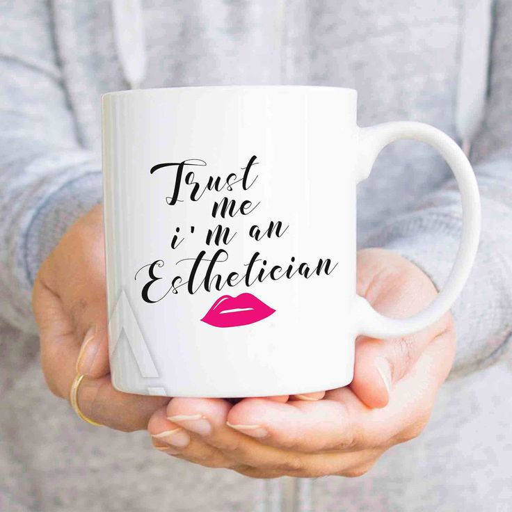 """Esthetician gifts, christmas gifts, """"Trust me I'm an esthetician"""" funny coffee mugs, make up artist gift, beautician gift MU488 by artRuss on Etsy"""