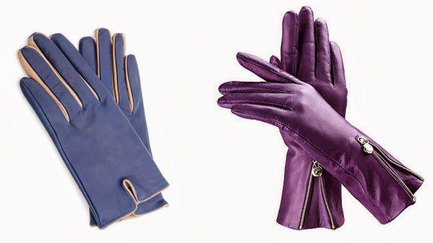 luce unos guantes de piel de colores para la temporada