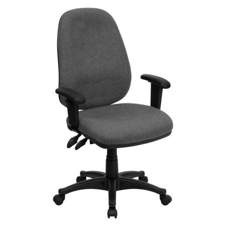 Flash Furniture High Back Ergonomic Computer Chair with Height Adjustable Arms, Gray