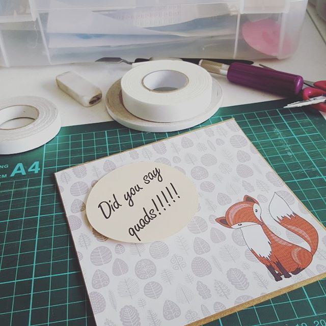 Lazy Sunday afternoon. Listening to The Cure will making a few more cards for the #etsy shop. Love the look on this little foxes face. #etsyau #etsysellersofinstagram #stressfreeday #sundaysession #thecure #makingcardsisfun