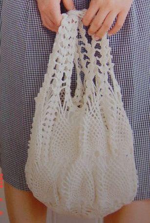 Pineapple design bag crochet chart