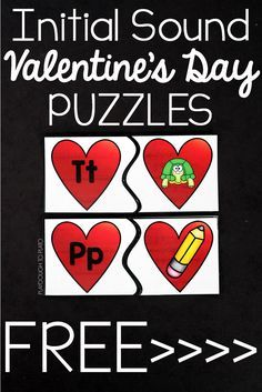 Awesome ABC puzzles for Valentine's Day. These would be such a fun preschool or kindergarten literacy center or ABC game.