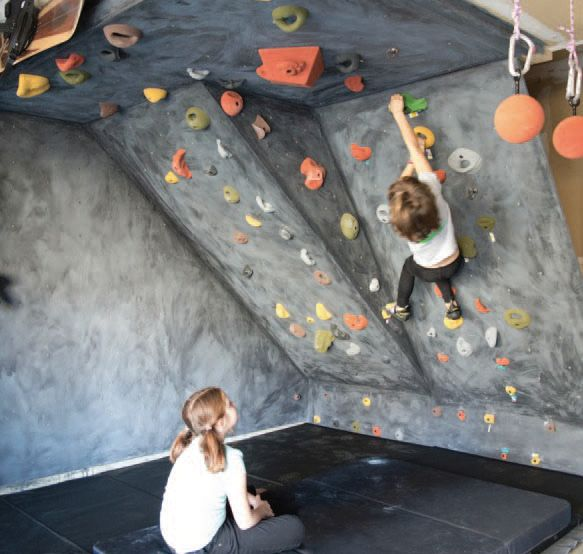 How to DIY a Garage Climbing Wall with materials available Pinned