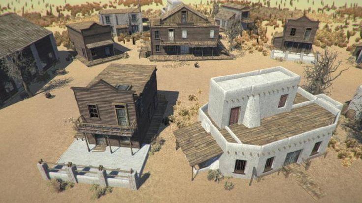 Western Game Assets - Axion Studios Asset Store - Western Town Pack