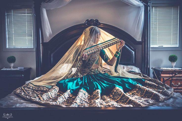 Gorgeous Emerald Green & Gold Lengha! Indian fashion.
