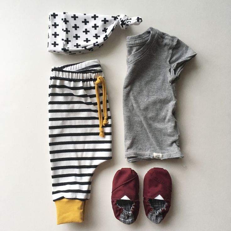 Nooches.etsy.com   Hipster baby, striped pants, modern baby