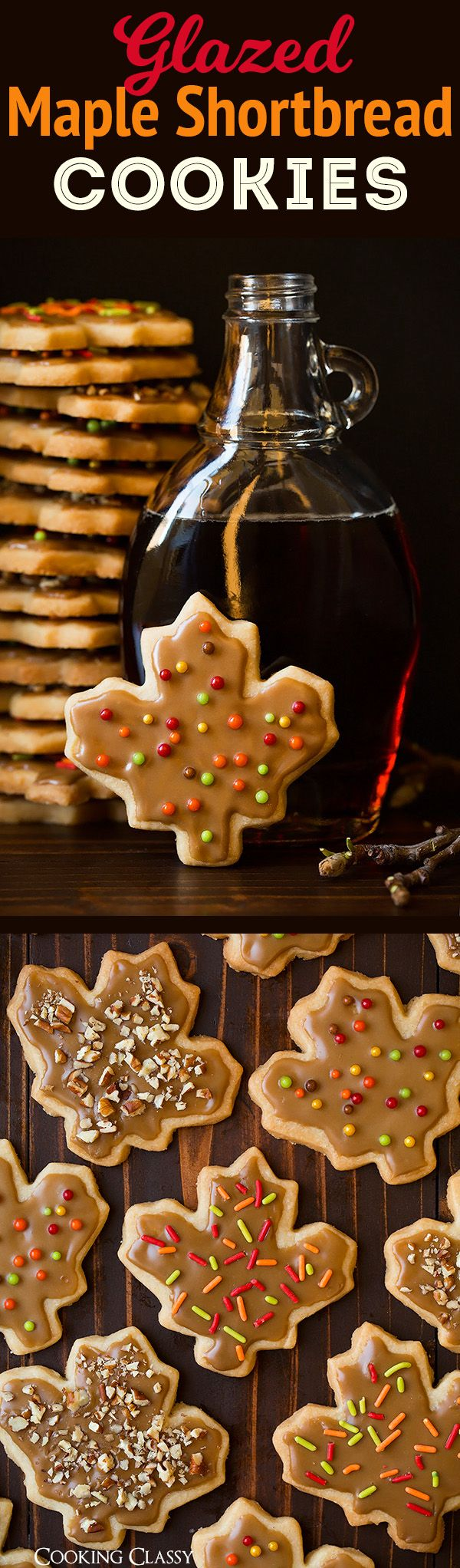 HOLIDAY BOARD: Glazed Maple Shortbread Cookies - Cooking Classy