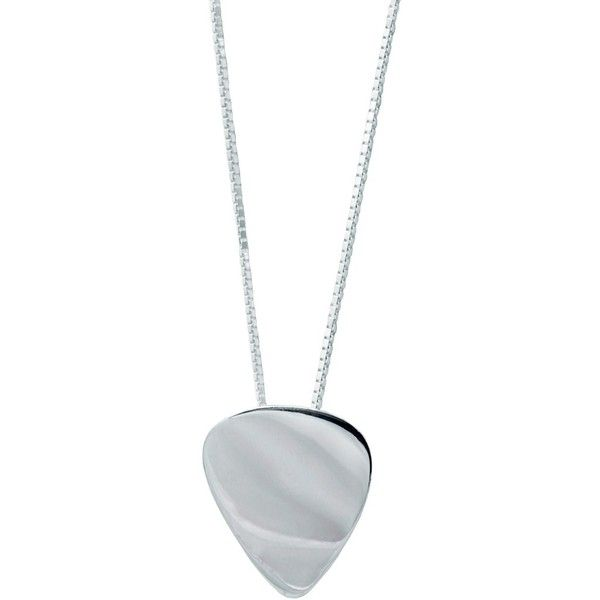 Edge Only - Mens Plectrum Pendant Silver ($195) ❤ liked on Polyvore featuring men's fashion, men's jewelry and men's necklaces