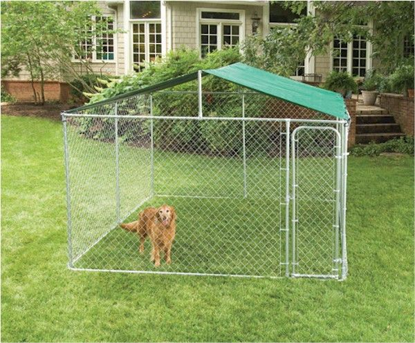 Give your dog some shade. Keep em safe and dry in the rain. The Dog Kennel E-Z…