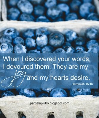 God's Word is nutritious! Our souls need the food between the covers of Scripture!