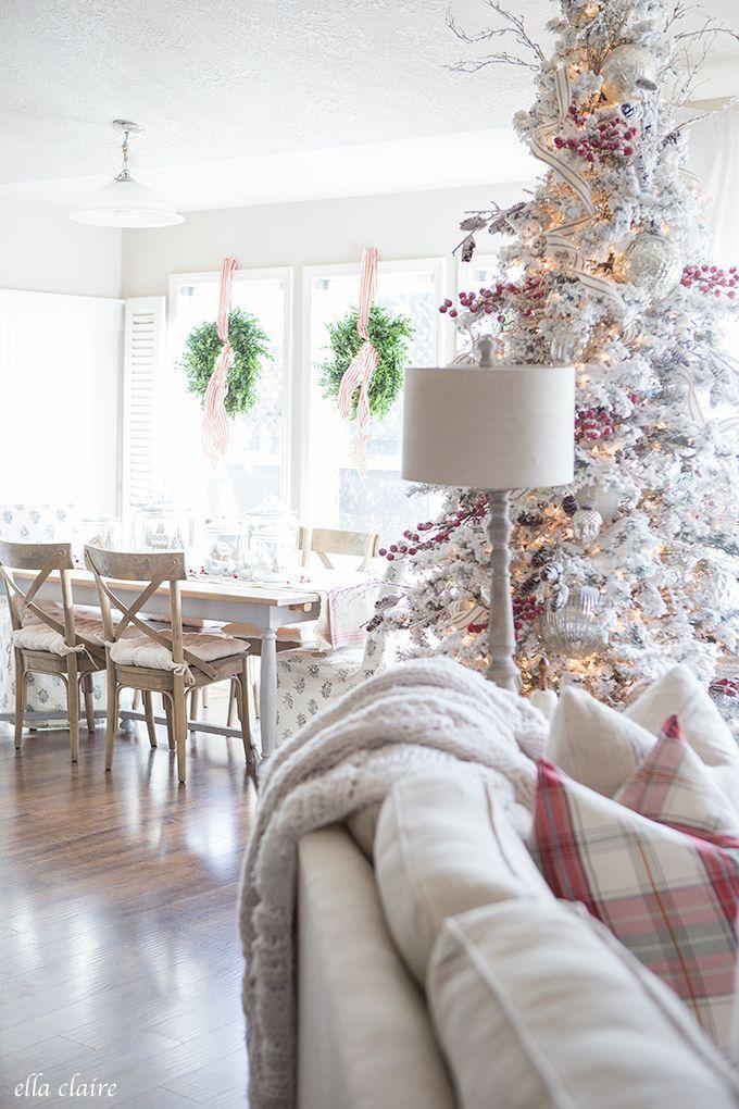 Charming Farmhouse style Christmas Home tour.