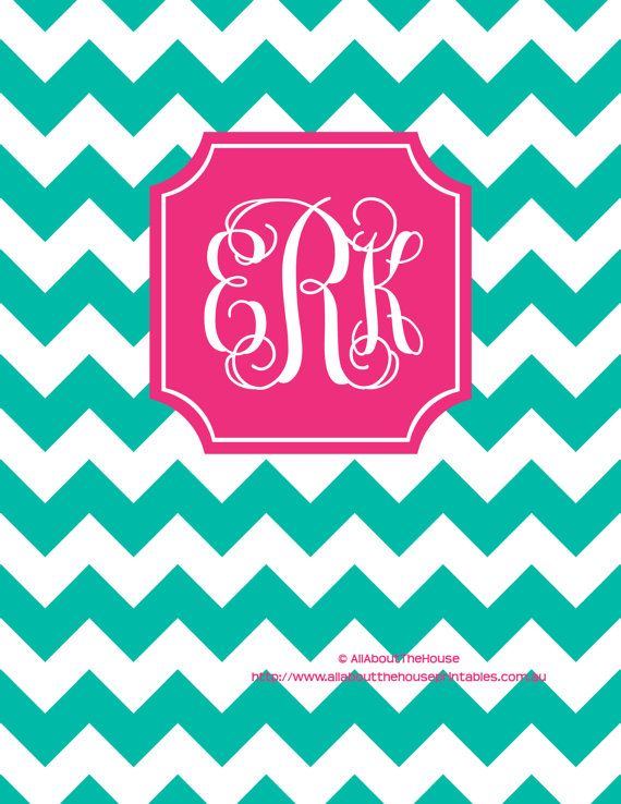 Monogram Binder Cover and spine Editable by AllAboutTheHouse