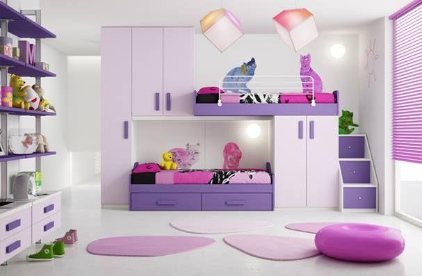 morado y lila para un cuarto de una adolescente