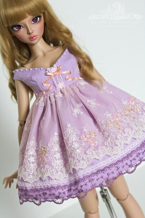 Milky Berry Mousse  lolita set outfit for Super Dollfie by kalcia