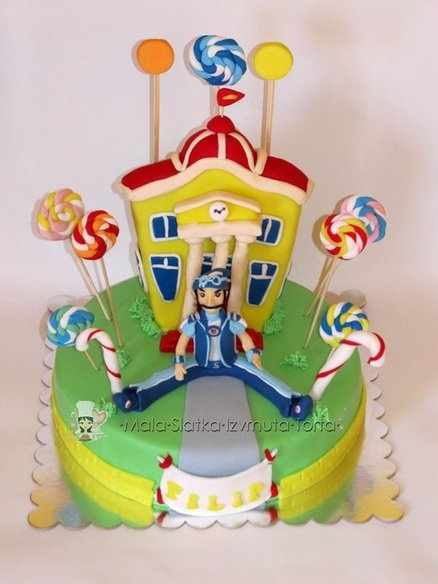 Sportacus, Lazy town cake - by tweetylina @ CakesDecor.com - cake decorating website