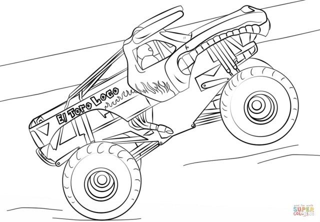 Inspiration Picture Of Monster Jam Coloring Pages Albanysinsanity Com Monster Truck Coloring Pages Truck Coloring Pages Shark Coloring Pages