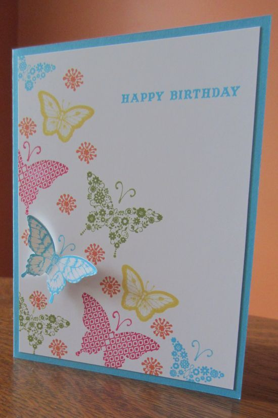 Birthday card made using Stampin' Up Papillon Potpourri stamp set and the Brights #pet girl #pet boy #Cute pet| http://cute-pet-930.lemoncoin.org
