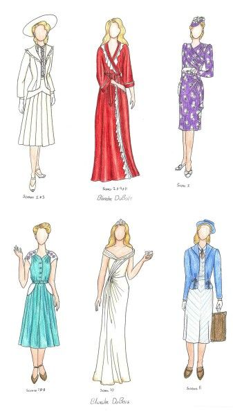 best streetcar inspo images streetcar d blanche costume through scenes