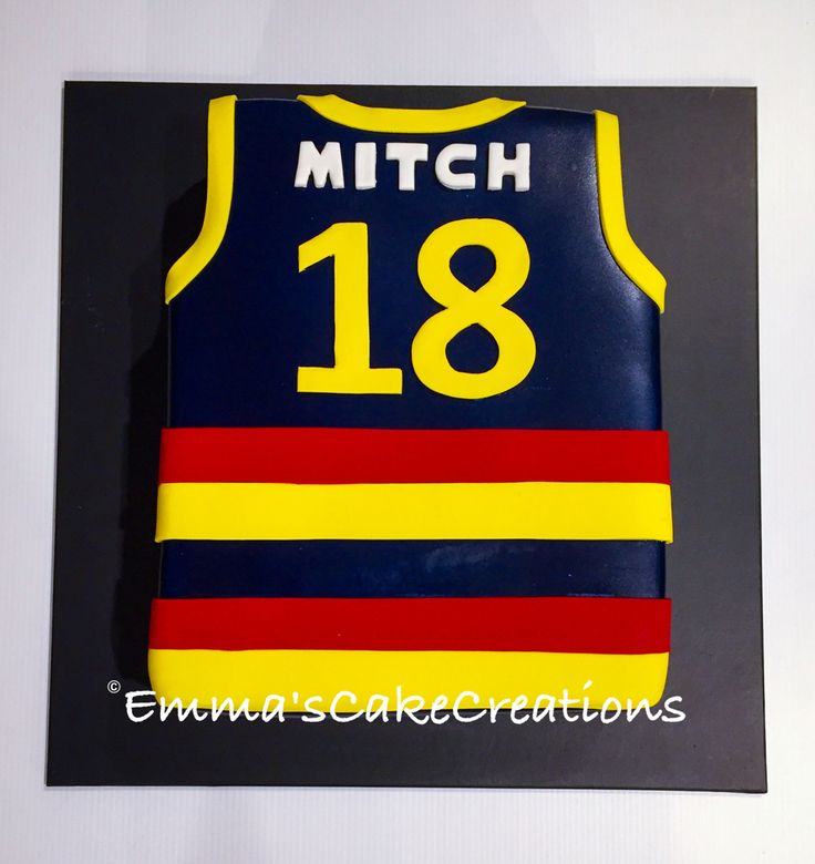 18th AFL Crows Guernsey cake