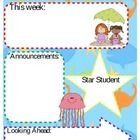 Editable Beach / Ocean Theme Classroom News Letter  Opens in Microsoft word!  Please rate and leave Feedback!  Let me know if there is a problem wi...