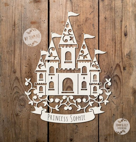 Princess Castle SVG PDF Design  by TommyandTillyDesign on Etsy