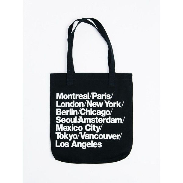 Cities Print Denim Tote 81 Pln Liked On Polyvore Featuring Bags Handbags