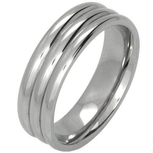 Style Sanctuary  - Stainless Steel Wide Ribbed Ring, £4.99…