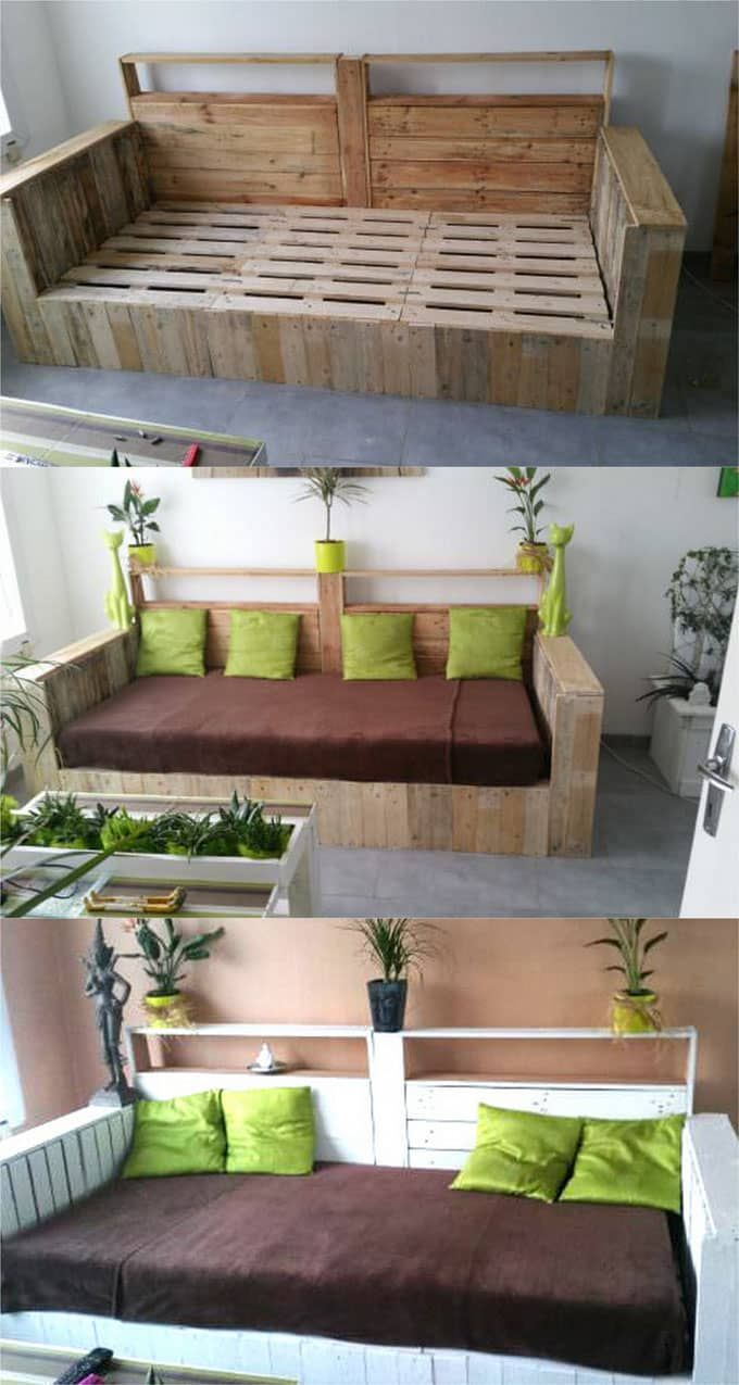 Diy Palettenmöbel 12 Easy Pallet Sofas And Coffee Tables To Diy In One