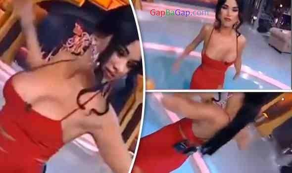 Watch: Daniela Crudu niple slip while dancing on live TV
