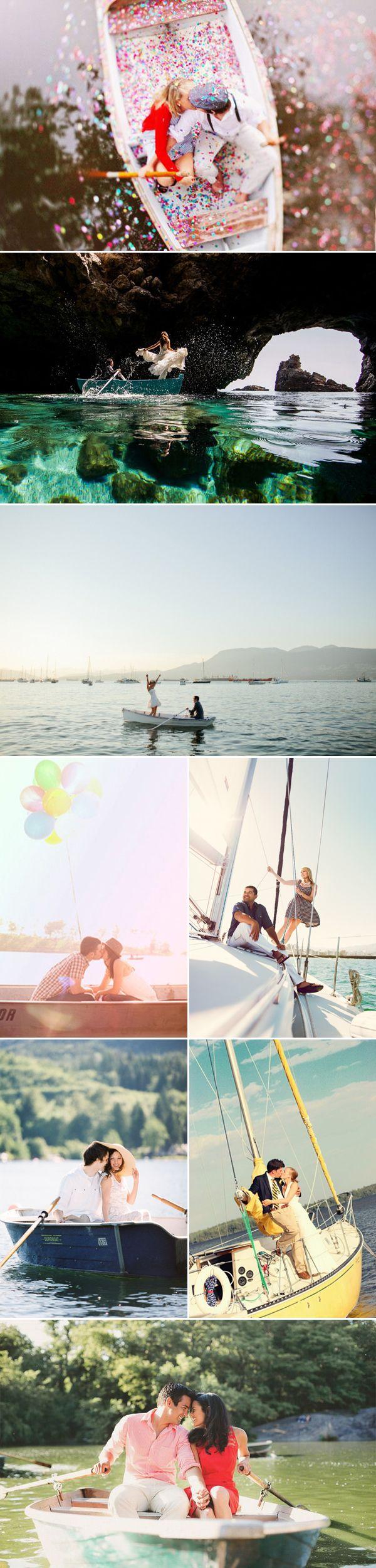 Fun Love-Boat Engagement Photo Ideas