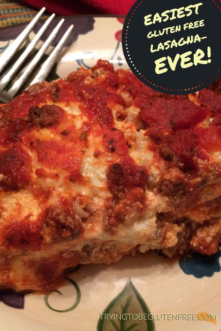 Gluten Free Dinner Party Menu Ideas Part - 34: Easiest Gluten Free Lasagna- Ever! Find This Pin And More On Gluten Free  Dinners ...