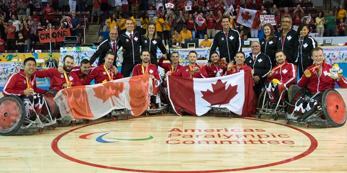 In a game that couldn't have been scripted better by Hollywood, Canada's wheelchair rugby team came from behind to win gold tonight at the Toronto 2015 Parapan American Games. The team has now qualified for the Rio 2016 Paralympic Games. (via paralympic.ca)