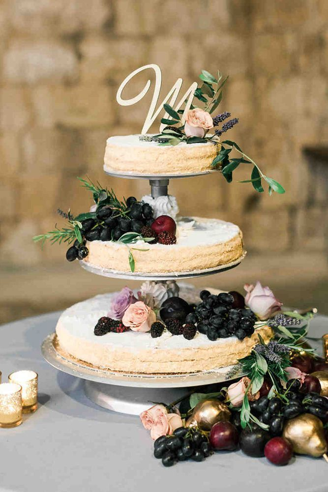 30 Tasty Italian Wedding Cakes ❤ See more: http://www.weddingforward.com/italian-wedding-cakes/ #wedding #cakes