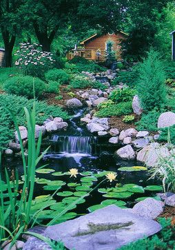 California Bungalow Landscaping Design, Pictures, Remodel, Decor and Ideas - page 13  -  Now this would be cool - We have a row of redwood trees this would look great with.