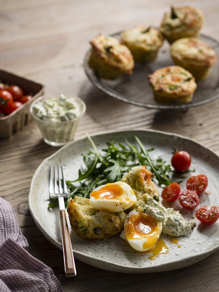 "Thermomix | Smoked salmon muffins with steamed eggs and herbed relish | Entertaining with Dani Valent cookbook + recipe chip | ""Brunch"" menu plan 