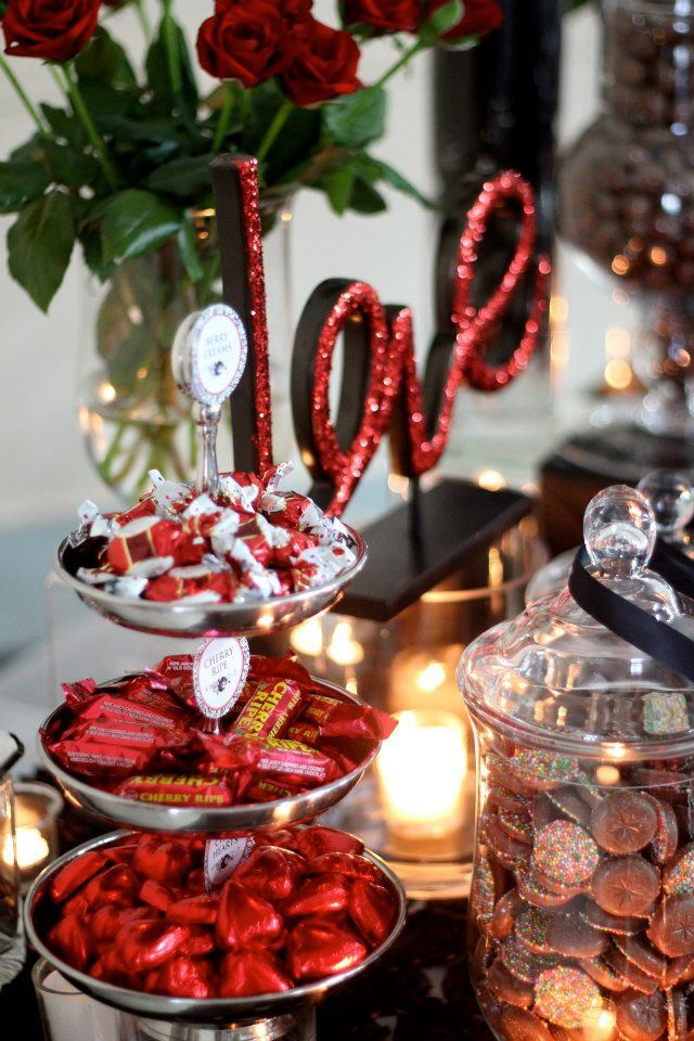 Red & Black Candy Buffet