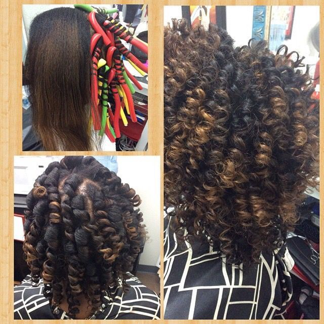 Flexi Rod Set On Natural Hair Dried