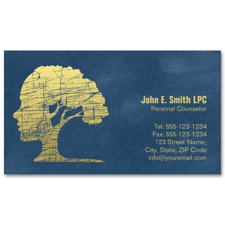 Blue Creative Psychologist Business Cards Mind And Tree Psychologist Business Card Psychologist Business Unique Business Cards Design