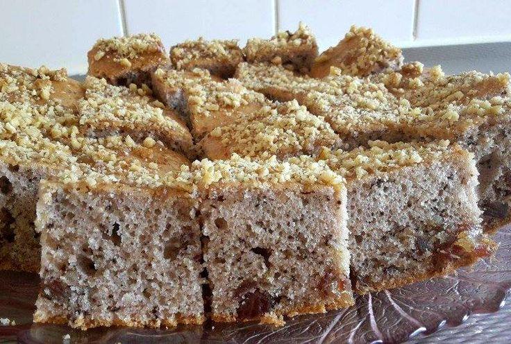 Recept voor walnootcake. De mazhar proef ikzelf niet echt, maar persoonlijk hou ik wel van de geur. Je ruikt het niet echt sterk. Als je het recept zonder mazhar wilt maken, moet je minder bloem gebruiken, ongeveer 200 gram bloem. Mijn bakblik is 23cm, maar als je een plattere cake wilt kan je ook een groter bakblik gebruiken.