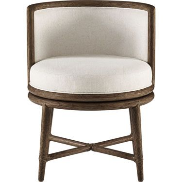 McGuire Furniture: Barbara Barry Canyon Swivel Dining Chair: M-436ggggg