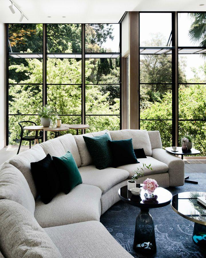 Contemporary Family Home With Stunning Garden View Home Home Decor Interior Design Garden living room decorating ideas