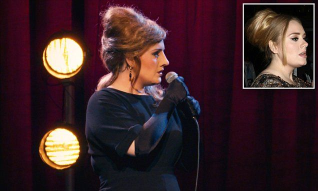 Adele wears wig and fake nose in hilarious sketch for her BBC special