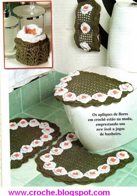 Set De Baño Tejido En Crochet Paso A Paso:Crochet Bathroom Decor