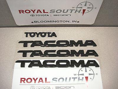 Toyota 2012 2013 2014 2015 Tacoma Black Emblems Genuine OEM OE