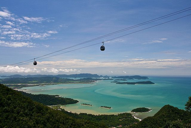 You're not scared of heights are you?  What a view from a cable car in Langkawi, Malaysia http://www.myholidaycentre.com.au/malaysia/resorts/langkawi/the-andaman-langkawi.aspx