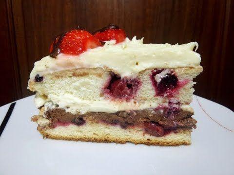 Tort cu Fructe și Ganache de Ciocolată ⋆ Dalida Cuisine